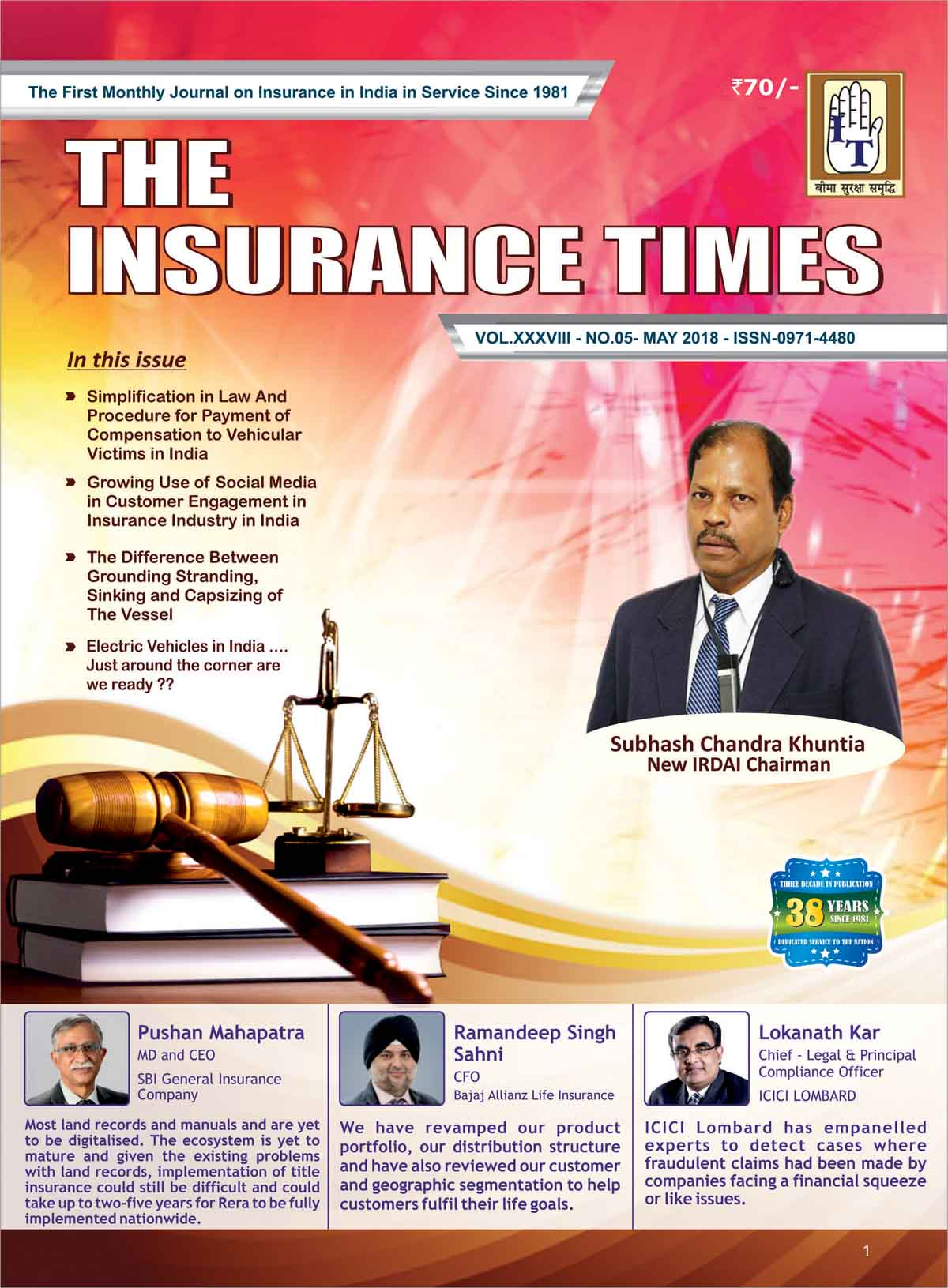 The Insurance Times May 2018