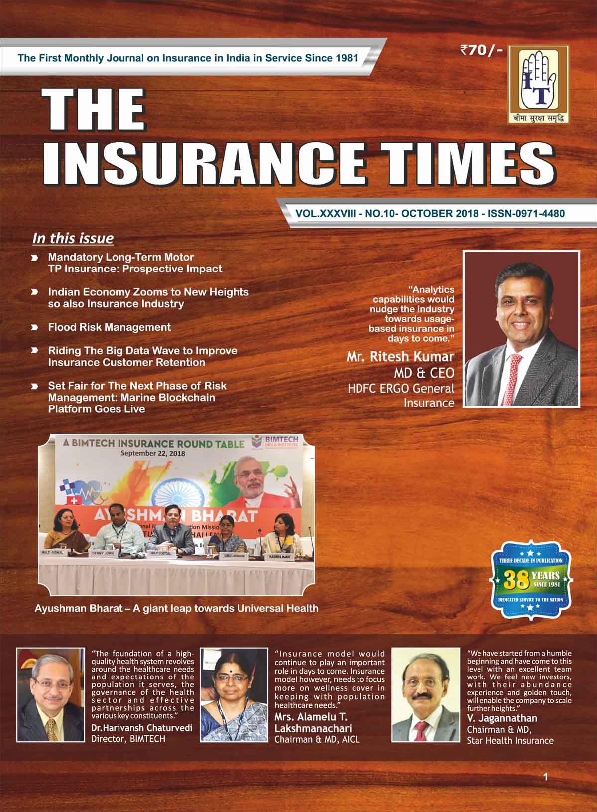 The Insurance Times October 2018