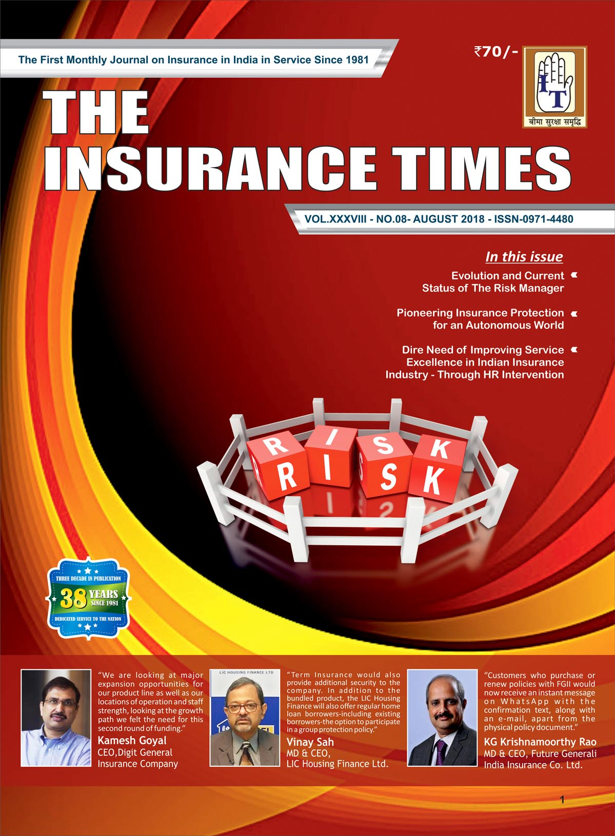 The Insurance Times August 2018