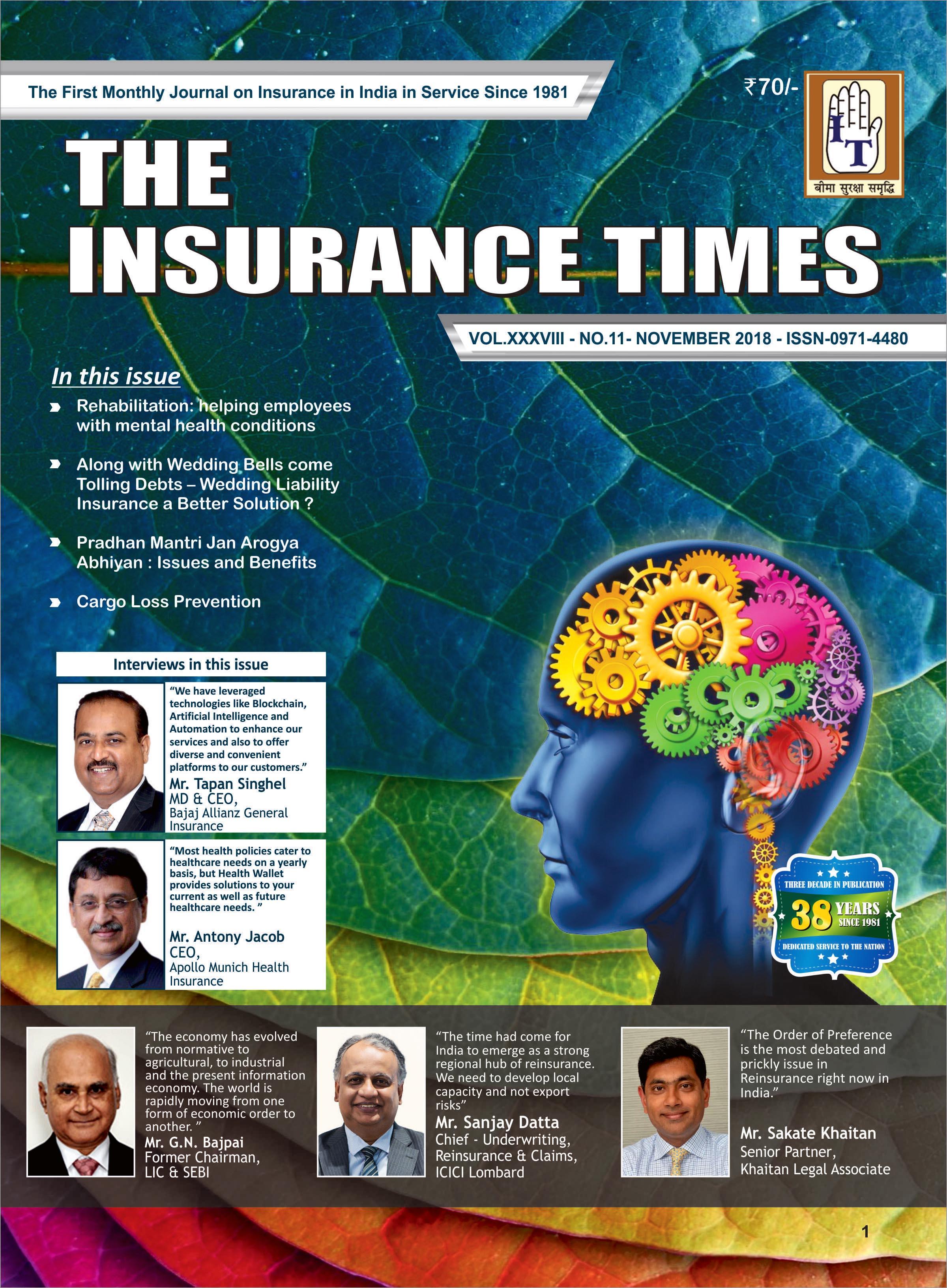 The Insurance Times November 2018