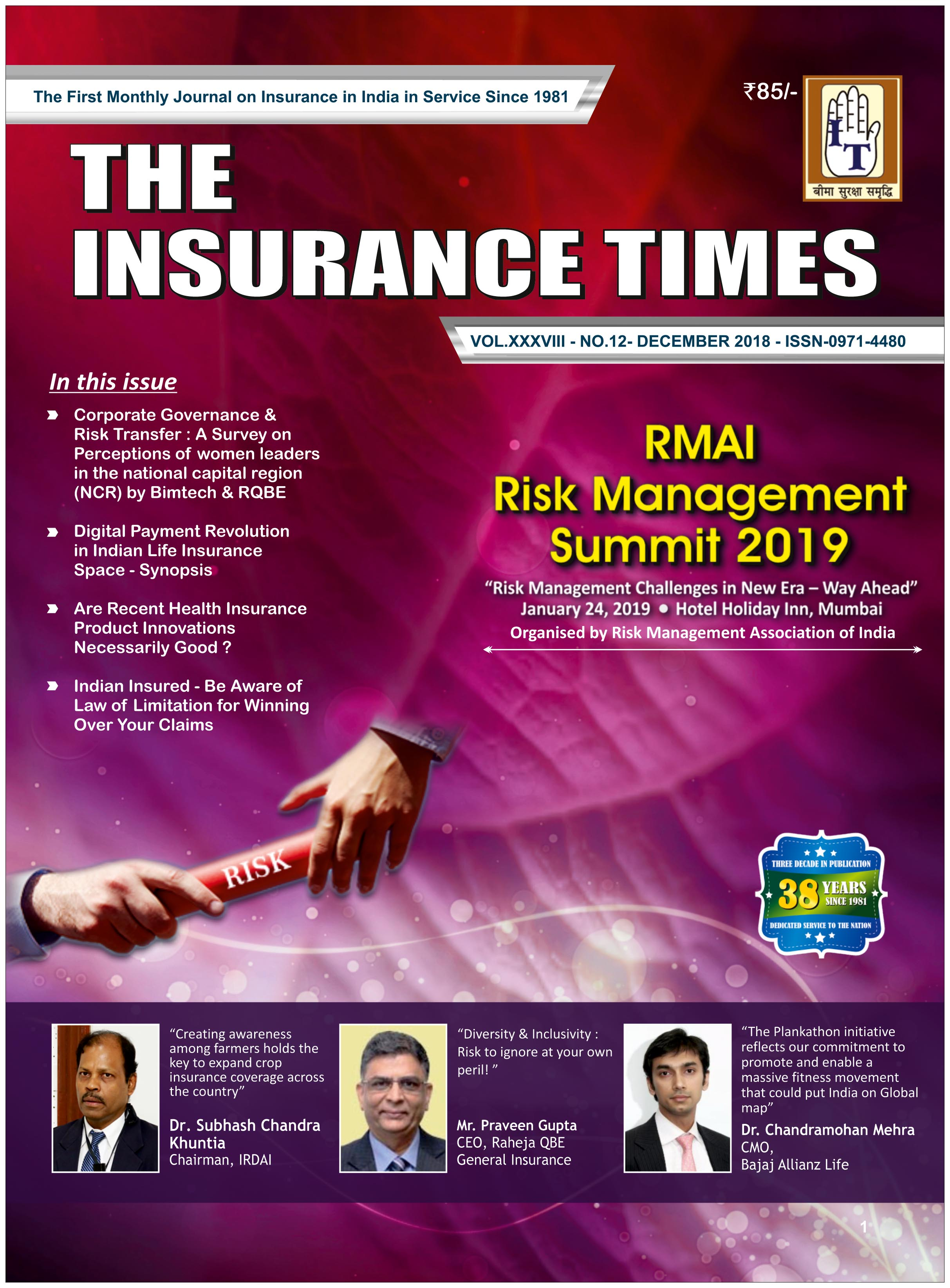 The Insurance Times December 2018