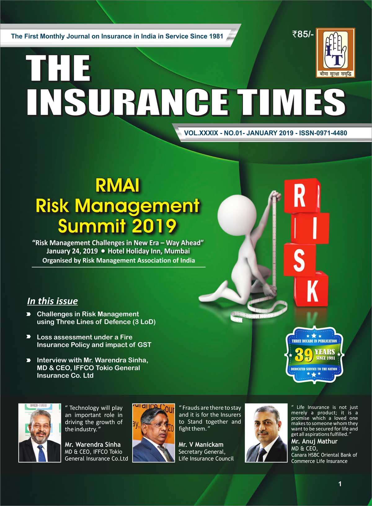 The Insurance Times January 2019